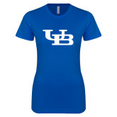Next Level Ladies SoftStyle Junior Fitted Royal Tee-Interlocking UB