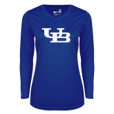 Ladies Syntrel Performance Royal Longsleeve Shirt-Interlocking UB