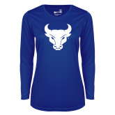 Ladies Syntrel Performance Royal Longsleeve Shirt-Bull Spirit Mark