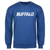 Royal Fleece Crew-Buffalo Word Mark