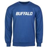 Royal Fleece Crew-Buffalo Word Mark