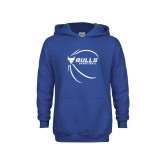 Youth Royal Fleece Hood-Bufallo Basketball w/ Contour Lines