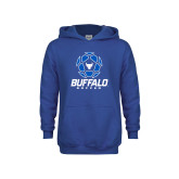 Youth Royal Fleece Hoodie-Buffalo Soccer Geometric Ball