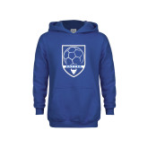 Youth Royal Fleece Hoodie-Buffalo Soccer Shield