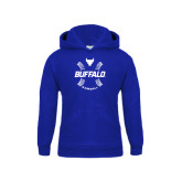 Youth Royal Fleece Hood-Buffalo Baseball w/ Seams