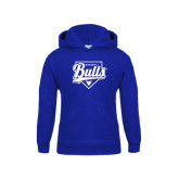 Youth Royal Fleece Hood-Bulls Baseball Script w/ Plate