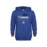 Youth Royal Fleece Hoodie-2018 Mens Basketball Champions - Stacked