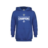 Youth Royal Fleece Hoodie-2018 Mens Basketball Champions - Box