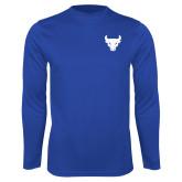 Syntrel Performance Royal Longsleeve Shirt-Bull Spirit Mark