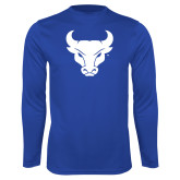 Performance Royal Longsleeve Shirt-Bull Spirit Mark