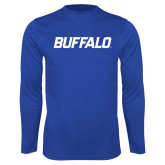 Performance Royal Longsleeve Shirt-Buffalo Word Mark