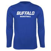 Syntrel Performance Royal Longsleeve Shirt-Basketball