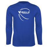 Performance Royal Longsleeve Shirt-Bufallo Basketball w/ Contour Lines