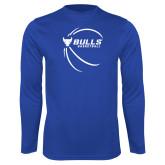 Syntrel Performance Royal Longsleeve Shirt-Bufallo Basketball w/ Contour Lines