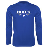 Performance Royal Longsleeve Shirt-Bulls Football Horizontal w/ Ball