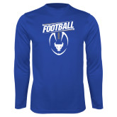 Performance Royal Longsleeve Shirt-Bulls Football Vertical w/ Ball