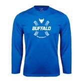 Syntrel Performance Royal Longsleeve Shirt-Buffalo Baseball w/ Seams