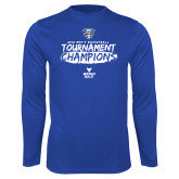 Performance Royal Longsleeve Shirt-2018 Mens Basketball Champions - Brush