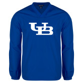 V Neck Royal Raglan Windshirt-Interlocking UB