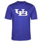 Performance Royal Heather Contender Tee-Interlocking UB