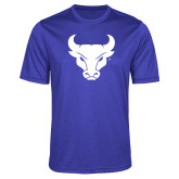 Performance Royal Heather Contender Tee-Bull Spirit Mark