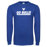 Royal Long Sleeve T Shirt-Go Bulls