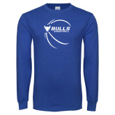 Royal Long Sleeve T Shirt-Bufallo Basketball w/ Contour Lines