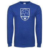 Royal Long Sleeve T Shirt-Buffalo Soccer Shield
