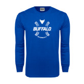 Royal Long Sleeve T Shirt-Buffalo Baseball w/ Seams