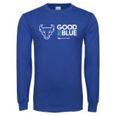 Royal Long Sleeve T Shirt-Good To Be Blue