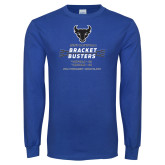 Royal Long Sleeve T Shirt-Mens Basketball Bracket Busters