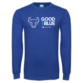 Royal Long Sleeve T Shirt-Good 2 Be Blue