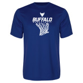 Performance Royal Tee-Bufallo Basketball w/ Hanging Net