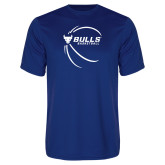 Performance Royal Tee-Bufallo Basketball w/ Contour Lines