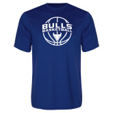 Performance Royal Tee-Bulls Basketball Arched w/ Ball