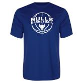 Performance Royal Tee-Bulls Basketball Arched w/ Ball