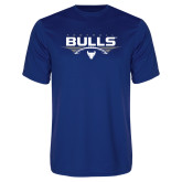 Performance Royal Tee-Bulls Football Horizontal w/ Ball
