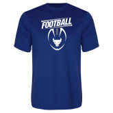 Performance Royal Tee-Bulls Football Vertical w/ Ball