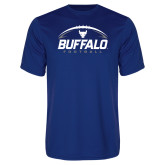 Performance Royal Tee-Buffalo Football Under Ball