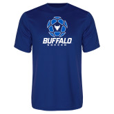 Performance Royal Tee-Buffalo Soccer Geometric Ball