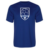 Performance Royal Tee-Buffalo Soccer Shield