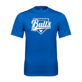 Syntrel Performance Royal Tee-Bulls Baseball Script w/ Plate