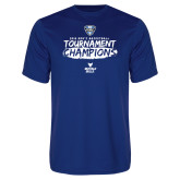 Performance Royal Tee-2018 Mens Basketball Champions - Brush