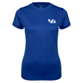 Ladies Syntrel Performance Royal Tee-Interlocking UB