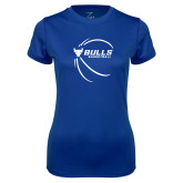 Ladies Syntrel Performance Royal Tee-Bufallo Basketball w/ Contour Lines