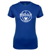 Ladies Syntrel Performance Royal Tee-Bulls Basketball Arched w/ Ball