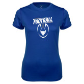 Ladies Syntrel Performance Royal Tee-Bulls Football Vertical w/ Ball