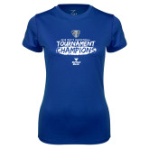 Ladies Syntrel Performance Royal Tee-2018 Mens Basketball Champions - Brush