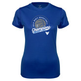 Ladies Syntrel Performance Royal Tee-2019 Mens Basketball Champions