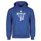 Royal Fleece Hoodie-Bufallo Basketball w/ Hanging Net